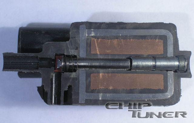 Внутреннее устройство клапана адсорбера