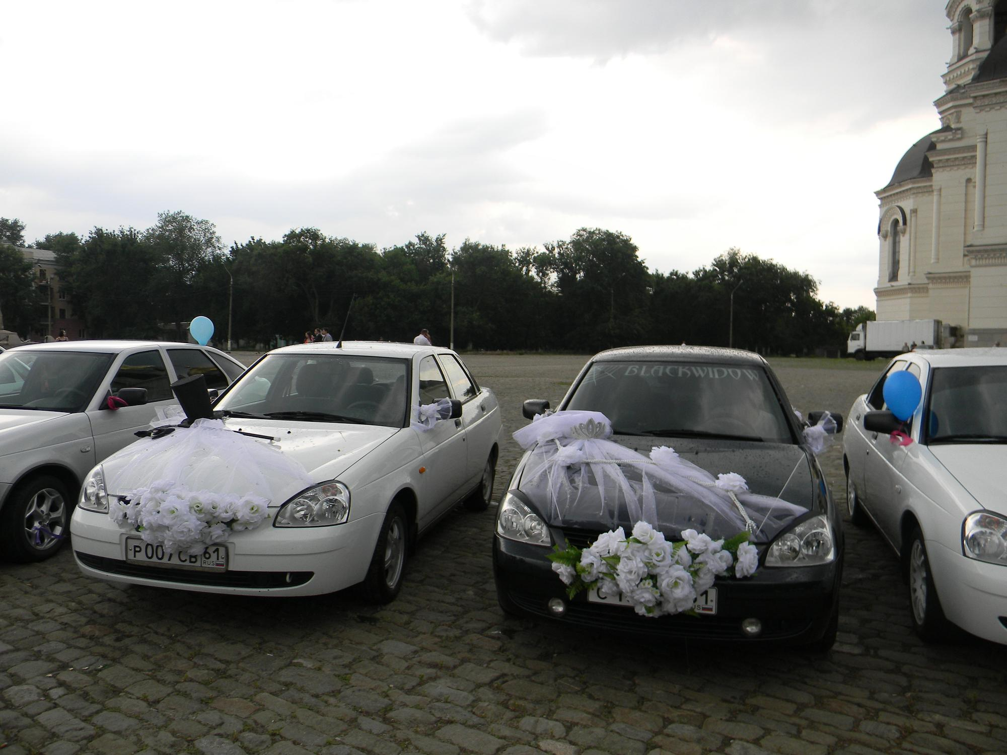 Приора на свадьбу фото